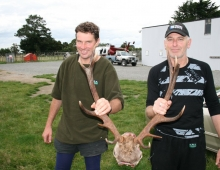 Jason and Des roar 2012, with a 12 point stags head