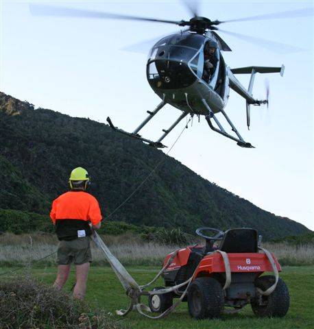 Amalgamated Helicopters have been asked to lift a variety of machinery
