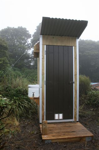 Last but by no means least the new Dorset WC complete with top of the line hygiene facility. Tararua hut project
